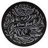Disney Dessert Plate - Chalkboard - Be Our Guest 7'' Black