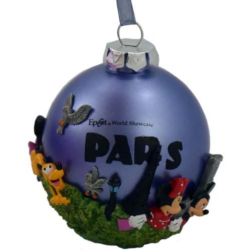Paris Christmas Ornament.Disney Christmas Ornament Epcot Center Paris Mickey And Friends