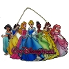 Disney Stained Glass Sun Catcher - 7 Princesses - Large