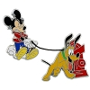 Disney Mickey & Pluto Pin - Mickey Mouse and Pluto with Fire Hydrant