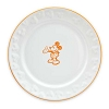 Disney Dessert Plate - Gourmet Mickey Mouse Icon - White with Pumpkin