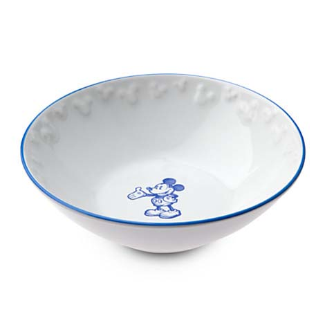 Disney Bowl - Gourmet Mickey Mouse Icon - White with Blue  sc 1 st  Your WDW Store & Your WDW Store - Disney Bowl - Gourmet Mickey Mouse Icon - White ...