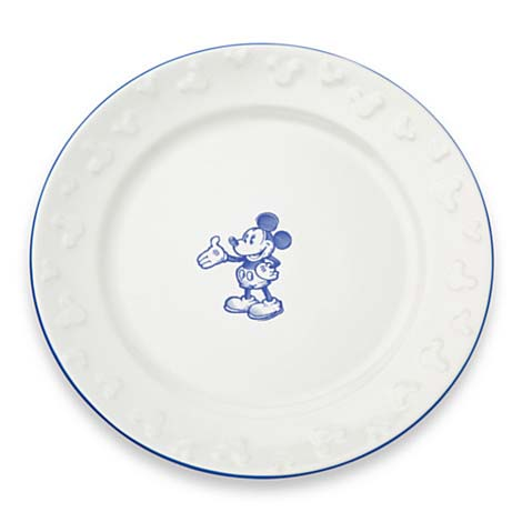Disney Dinner Plate - Gourmet Mickey Mouse Icon - White with Blue  sc 1 st  Your WDW Store & Your WDW Store - Disney Dinner Plate - Gourmet Mickey Mouse Icon ...