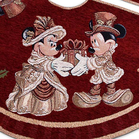 Disney Christmas Holiday Tree Skirt - Victorian Mickey and ...