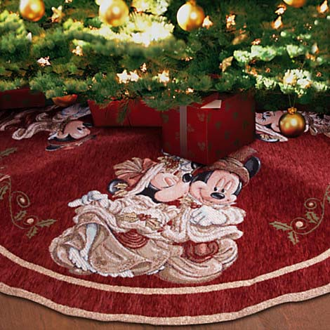 disney christmas holiday tree skirt victorian mickey and minnie