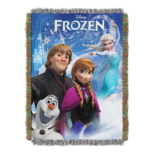 Disney FROZEN Tapestry Throw - Anna, Elsa, Kristoff, and Olaf