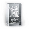 Disney Arribas Laser Cube - Mickey and Minnie Mouse Wedding