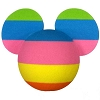 Disney Antenna Topper - Color Magic - Rainbow Mickey Ears