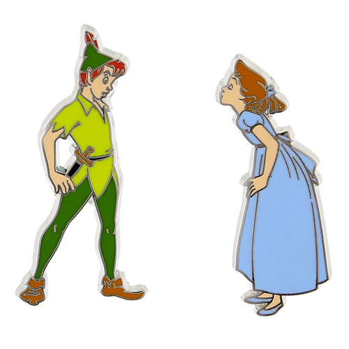 Disney Peter Pan Pin Set Peter Pan And Wendy
