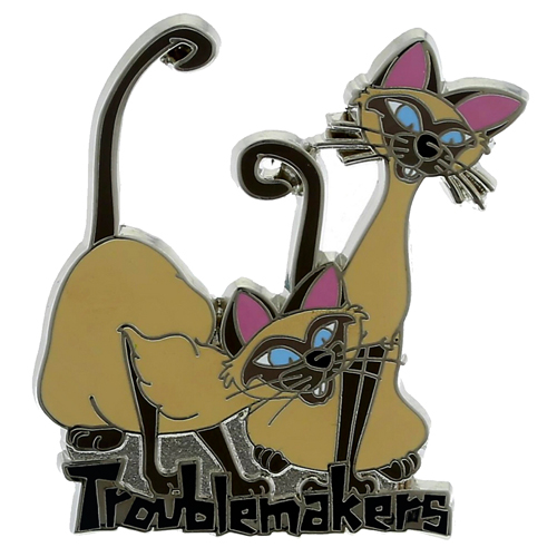 Disney Lady and the Tramp Pin - Trouble Makers - Si and Am