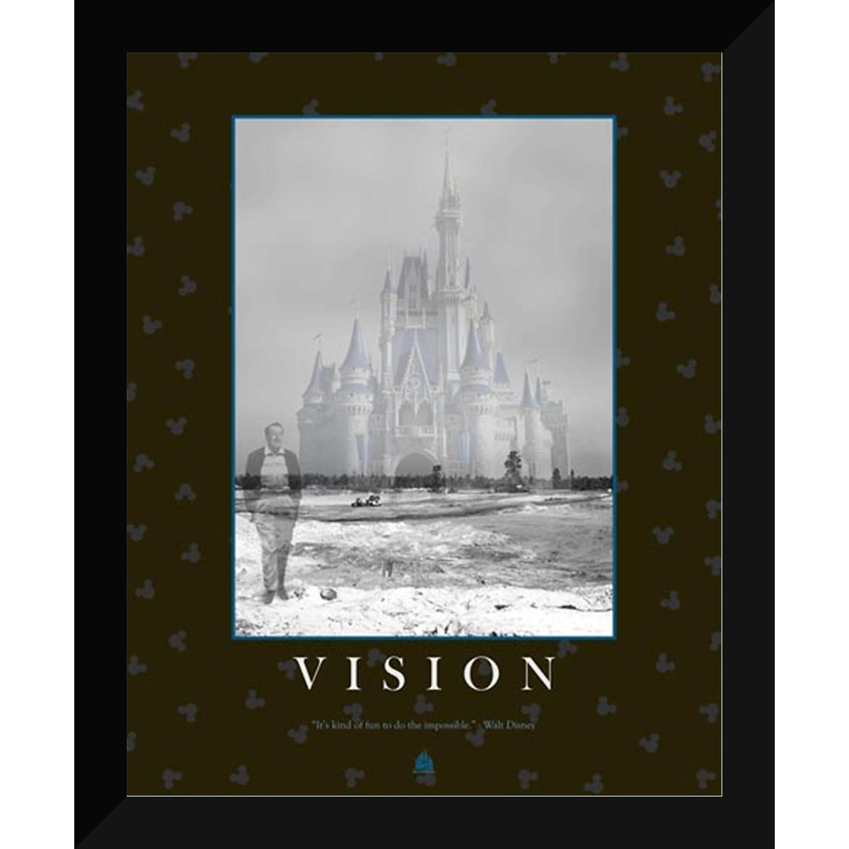 Disney Framed Giclee Print - Walt Disney Quote - ''Vision''