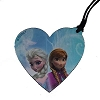 Disney Leather Keychain Luggage Tag - Frozen - Anna and Elsa