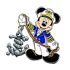 Disney Cruise Line Pin - Captain Mickey Mouse Holding Anchor