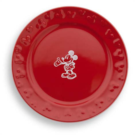 Disney Dessert Plate - Gourmet Mickey Mouse Icon - Red
