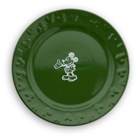 Disney Dessert Plate - Gourmet Mickey Mouse Icon - Green