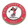 Disney Golf Ball Marker - Palm - Magnolia - Minnie - Pink