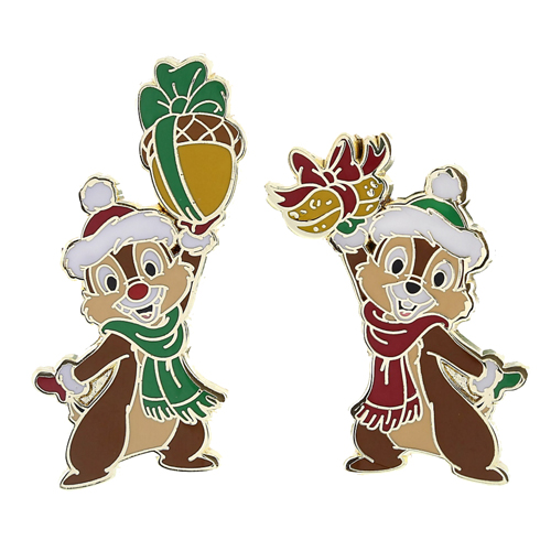 disney christmas pin chip and dale acorn gifts - Disney Christmas Gifts
