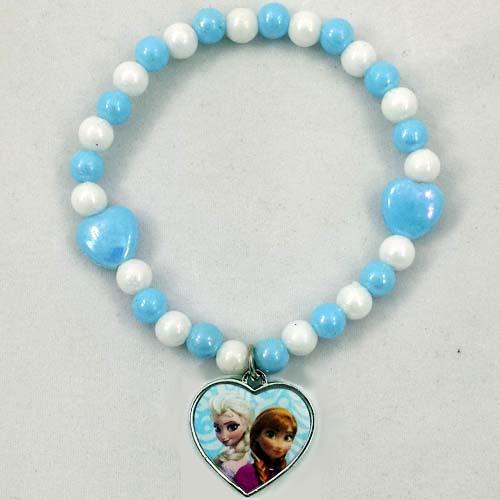 Your Wdw Store Disney Bracelet Frozen Princess Elsa Amp Anna Heart Charm