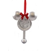 Disney Christmas Frame Ornament - Baby's 1st Christmas - Mickey Rattle