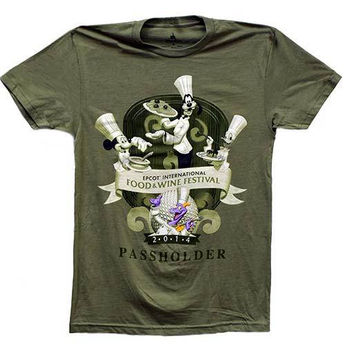 968885b67 Disney Adult Shirt - Food & Wine Festival 2014 Passholder Exclusive ...