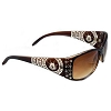 Disney Arribas Sunglasses - Jeweled Aztec Mickey Mouse Icon - Brown