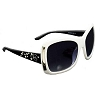 Disney Arribas Sunglasses - Jeweled Triple Mickey Mouse Icon - White