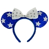 Disney Minnie Ears Headband - Holiday Ears - Blue White Stars
