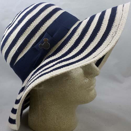 e47df8ac18c Disney Ladies Sun Shade Hat - Blue and White Striped