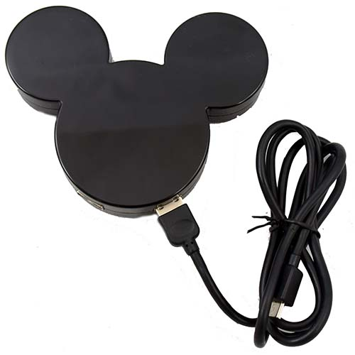Disney 4 Port USB Hub - Mickey Mouse Icon - Black