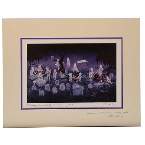 Disney Artist Print - Larry Dotson - The Haunted Mansion Graveyard