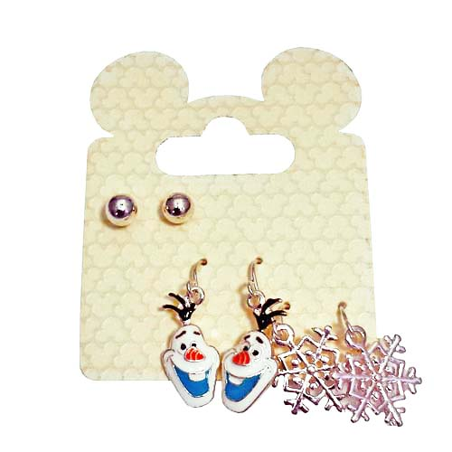 Disney Mickey Earrings - Frozen Winter Earrings Set - Olaf