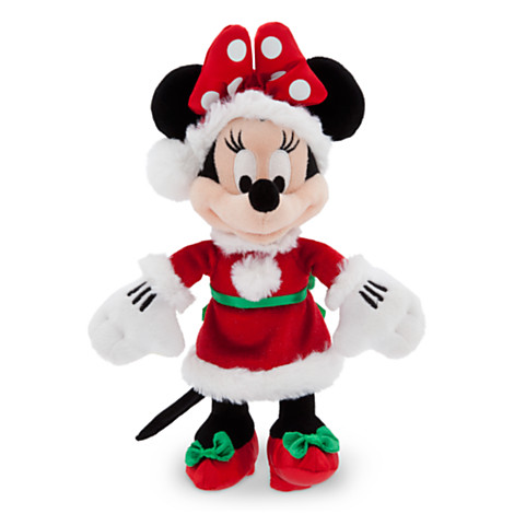 Christmas Minnie Mouse Plush.Disney Christmas Plush Happy Holidays 2014 Santa Minnie