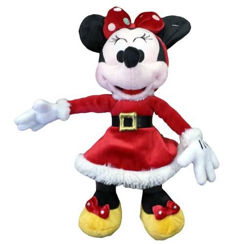 Christmas Minnie Mouse Plush.Disney Christmas Plush Retro Santa Minnie Mouse