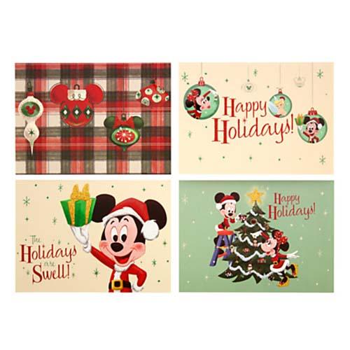 disney christmas cards retro mickey happy holidays