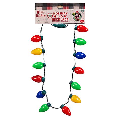 disney holiday lanyard light up retro christmas bulbs