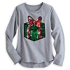 Disney Womens Shirt - Minnie Bow Wrapped Gift Metallic