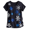 Disney Ladies Shirt - Mickey Mouse Glittering Snowflakes