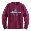 Disney Adult Shirt - Santa Mickey Mouse - Maroon Long Sleeve