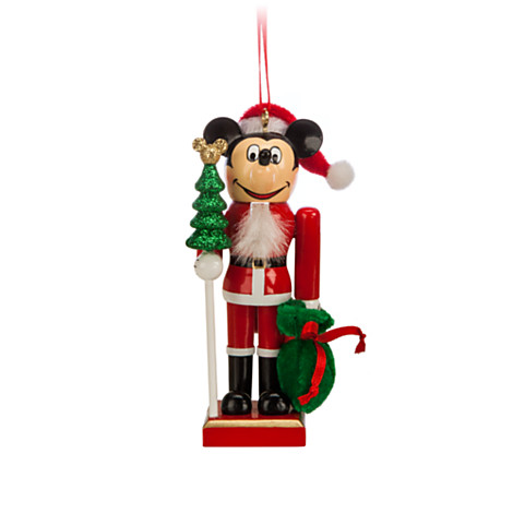 disney christmas ornament santa mickey mouse nutcracker ornament