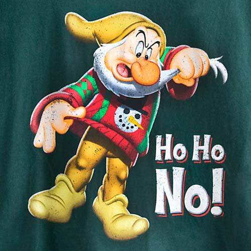 Disney Adult Shirt Grumpy Dwarf Ho Ho No