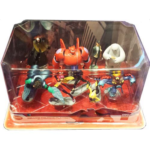 Disney Action Figurine Set Big Hero 6 Baymax Hiro Wasabi Fred