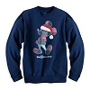 Disney Adult Shirt - Holiday Plaid Santa Mickey Mouse Sweatshirt