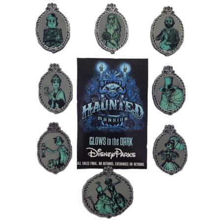 Disney Mystery Pins - The Haunted Mansion Glow Portraits - Choice