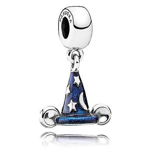 Disney Pandora Charm Sorcerer Mickey Hat Dangle