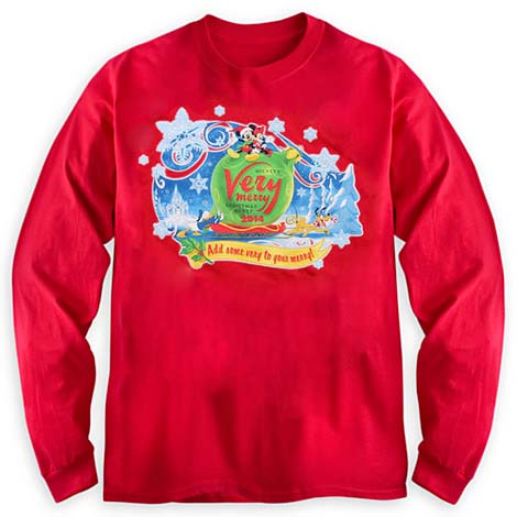 Mickeys Very Merry Christmas Party Merchandise.Disney Adult Shirt 2014 Mickey S Very Merry Christmas Party Long Sleeve