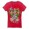 Disney WOMEN'S Shirt - Happy Holidays 2014 Wreath