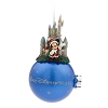 Disney Figure on Ball Ornament - Santa Mickey and Duffy At Castle