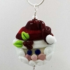 Disney Arribas Necklace - Silver with Glass Pendant - Santa Claus Jolly St. Nick