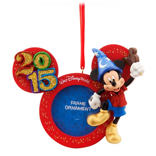 Disney Christmas Frame Ornament   2015 Mickey Mouse