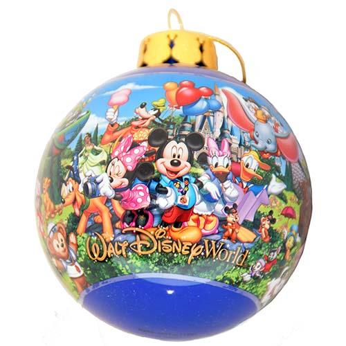 Disney Ball Ornament Storybook Logo Walt Disney World